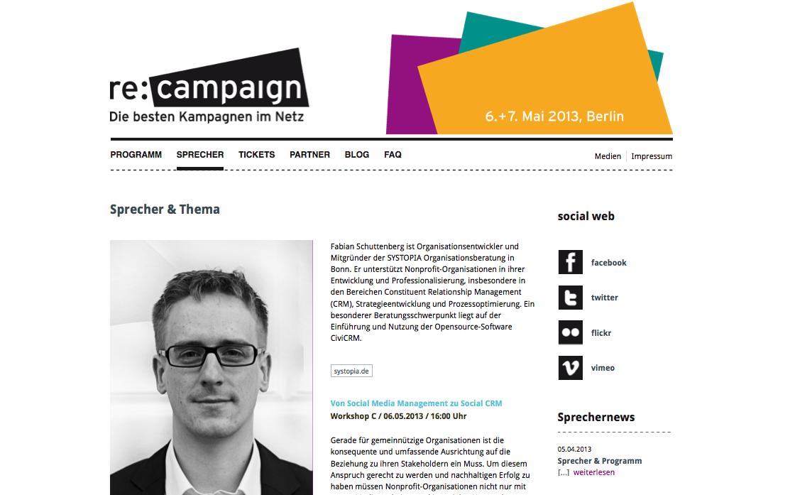 SYSTOPIA auf der re:campaign